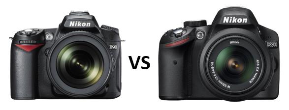 nikon d3200 versus d90