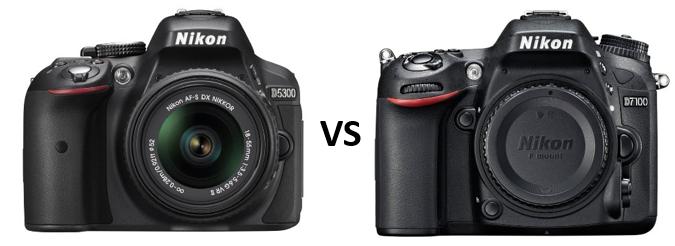 nikon d7100 versus 5300
