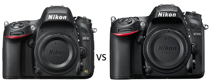 The War Continues with the Nikon D610 and the Nikon D7200